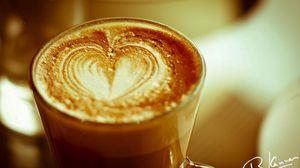 Превью обои кофе, сердце, признание, пенка, подпись