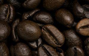 Превью обои кофейные зерна, кофе, крупным планом