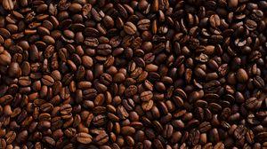Превью обои кофейные зерна, кофе, обжаренный, коричневый