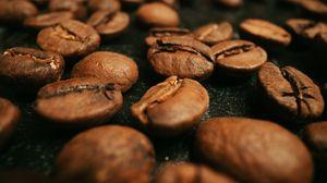 Превью обои кофейные зерна, кофе, зерна, обжарка, коричневый, макро