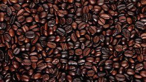 Превью обои кофейные зерна, еда, поверхность