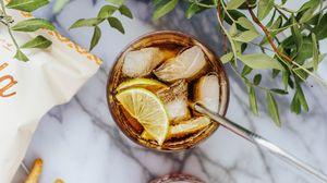 Превью обои коктейль, лед, напиток, стакан, свежий