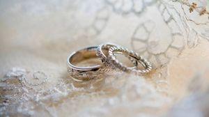 Превью обои кольца, свадьба, любовь, узоры, золото