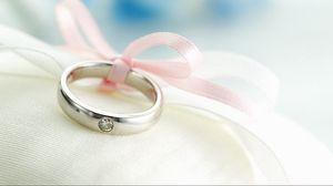 Превью обои кольцо, бант, украшение, шелк