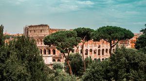 Превью обои колизей, италия, рим, архитектура