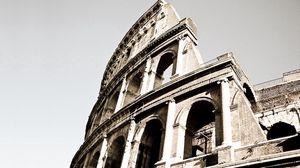 Превью обои колизей, италия, рим, чб, старинный