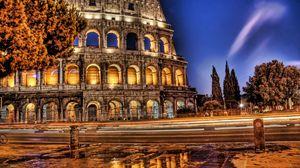 Превью обои колизей, рим, италия, руины, hdr