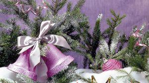 Превью обои колокольчик, новый год, украшения