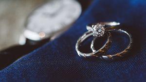 Превью обои кольца, бриллиант, украшения, любовь, романтика