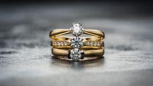 Превью обои кольца, бриллианты, украшение