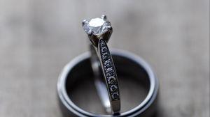 Превью обои кольца, любовь, пара, свадьба, драгоценности, украшения