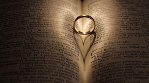 Превью обои кольцо, свадьба, книга