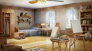 Превью обои комната, арт, художник, интерьер