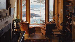 Превью обои комната, интерьер, мебель, окно, вид