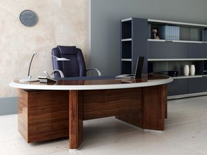 Превью обои комната, кабинет, стол, стул, полки