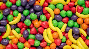 Превью обои конфеты, драже, разноцветный, сладость