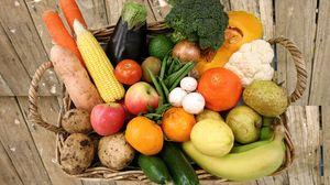 Превью обои корзина, овощи, фрукты, еда