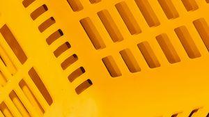 Превью обои корзина, пластик, поверхность, желтый