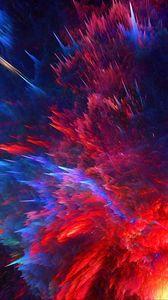 Превью обои космический взрыв, яркий, линии, формы