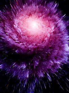 Превью обои космический взрыв, яркий, линии, формы, объем, заостренный