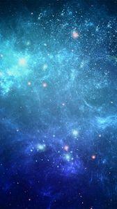 Превью обои космос, фон, синий, точки