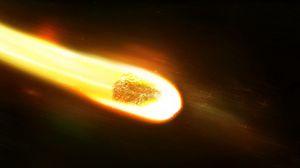 Превью обои космос, метеорит, скорость, разрушение