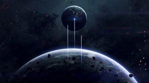 Превью обои космос, планета, открытый космос, вселенная