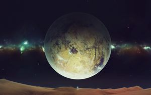 Превью обои космос, планета, пространство