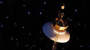 Превью обои космос, спутник, орбита, звезды, арт