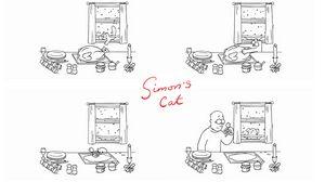 Превью обои кот саймона, simons cat, индейка, рождество, мульт