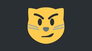 Превью обои кот, ухмылка, арт, вектор