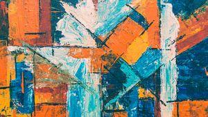 Превью обои краска, абстрактный, разводы, линии, пятна, разноцветный