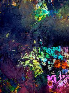 Превью обои краска, мазки, пятна, смешивание, абстракция, разноцветный