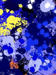 Превью обои краска, пятна, брызги, потеки, абстракция, синий