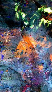 Превью обои краска, пятна, смешивание, сухой, абстракция, разноцветный