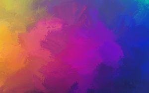 Превью обои краска, пятна, разноцветный, яркий