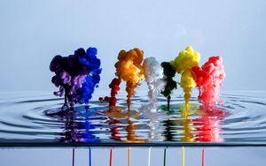 Превью обои краска, вода, жидкость