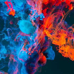 Превью обои краска, жидкость, абстрактный, разноцветный, сгусти