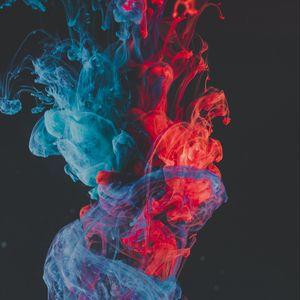 Превью обои краска, жидкость, сгустки, абстрактный
