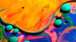 Превью обои краски, жидкость, разноцветный, разводы