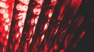 Превью обои красный, блики, боке, макро, свет