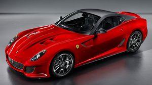 Превью обои красный, автомобиль, спортивный, ferrari