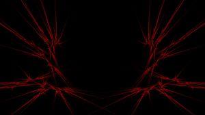 Превью обои красный, черный, абстракция