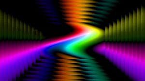 Превью обои красочный, изгибы, фон, линии