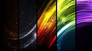 Превью обои красочный, лучи, линии, прямоугольники, разноцветный
