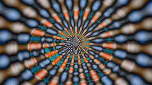 Превью обои красочный, оптическая иллюзия, иллюзия, круг, оболочка