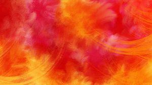 Превью обои красочный, яркий, оранжевый, красный