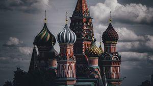 Превью обои кремль, здания, архитектура, москва, россия