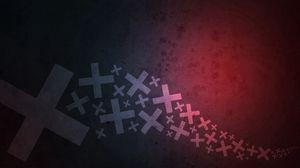Превью обои крест, поверхность, тень, свет