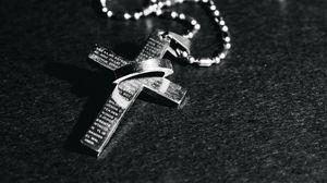 Превью обои крест, цепочка, религия, бог